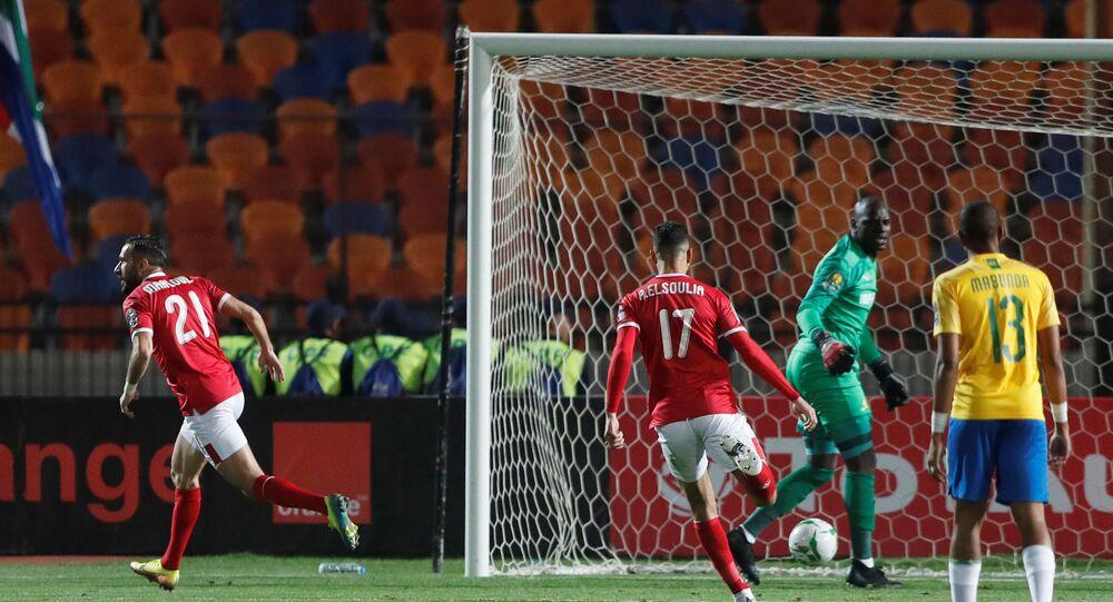 معلول يحرز الهدف الأول للأهلي في مرمى صنداونز