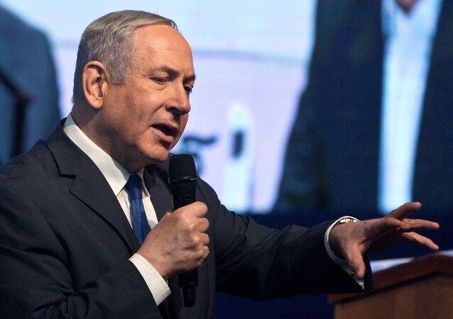 رئيس حكومة تصريف الأعمال الإسرائيلية بنيامين نتنياهو