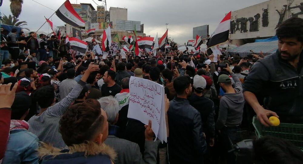 تظاهرات في العراق، الأحد الأول من مارس/آذار 2020