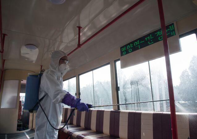 فيروس كورونا - بيونغ يانغ، كوريا الشمالية فبراير 2020