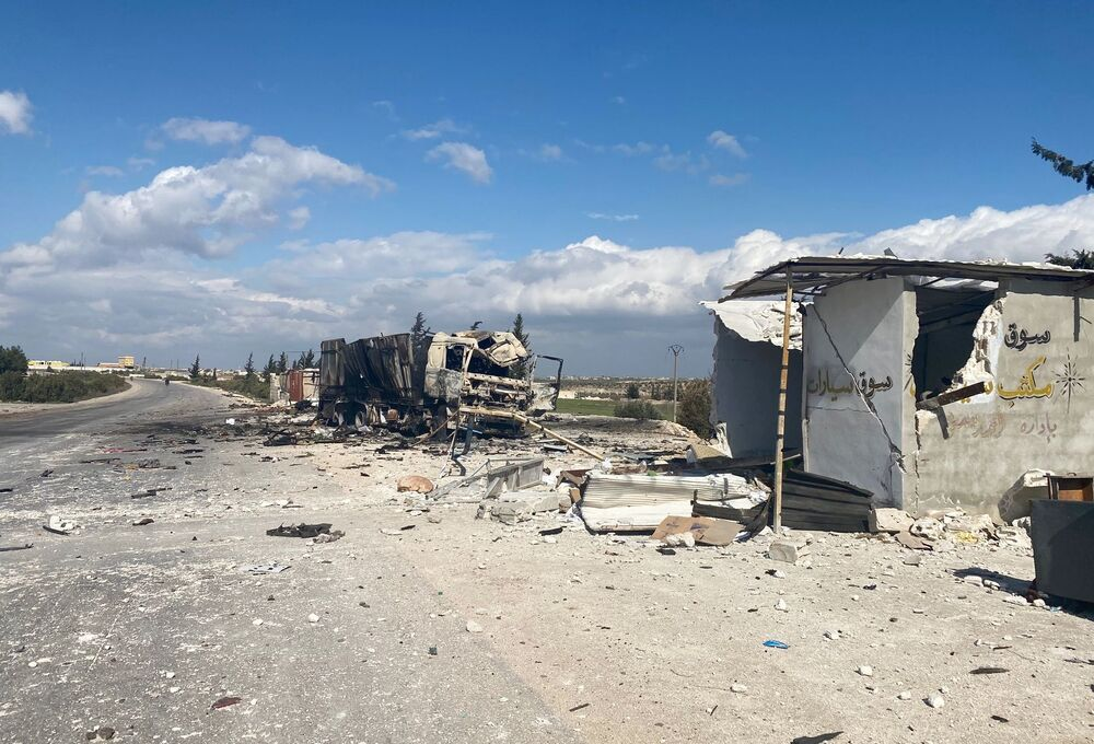 حي سراقب بمحافظة إدلب بعد تحريره من قبل قوات الجيش العربي السوري، سوريا، 29 فبراير 2020