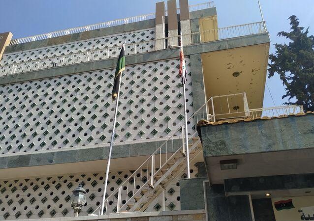 افتتاح السفارة الليبية في دمشق، سوريا