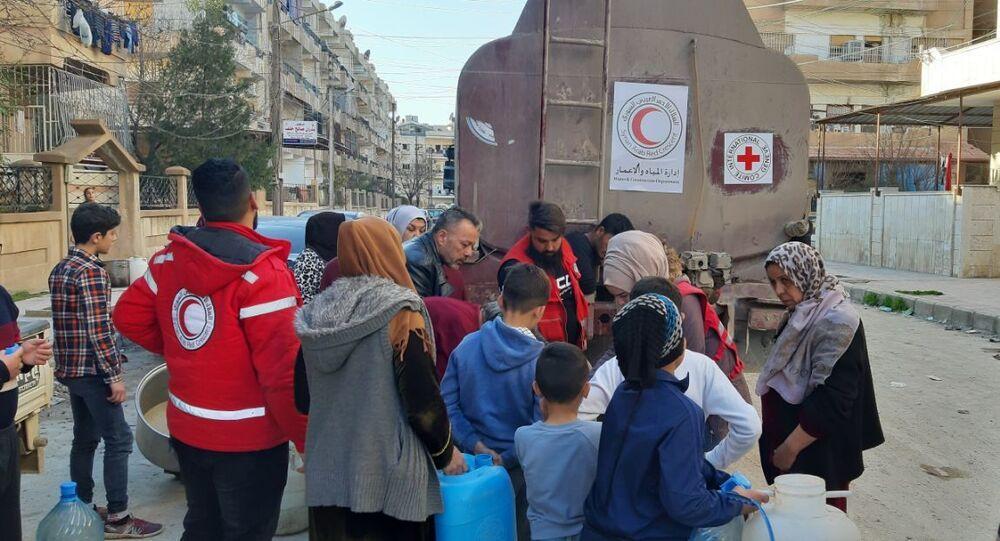لليوم التاسع...مليون سوري يناضلون ضد العطش جراء قيام التركي والتركمانية بقطعها