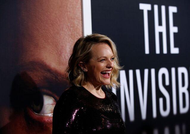 الممثلة الأمريكية، إليزابيث موس، في العرض الخاص لفيلم The Invisible Man، لوس أنجلوس، الولايات المتحدة، 25 فبراير/ شباط 2020