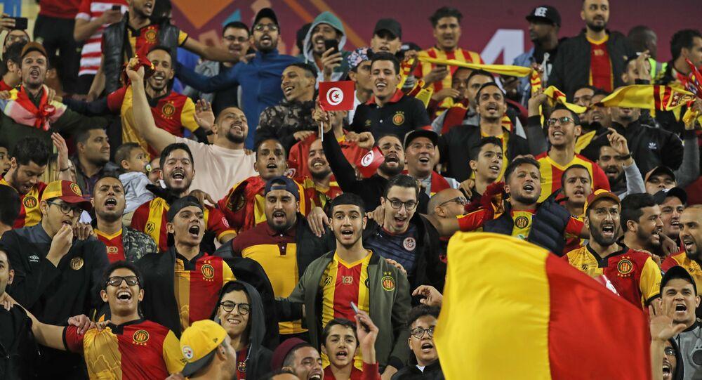 جماهير الترجي التونسي في مباراة الزمالك في قطر