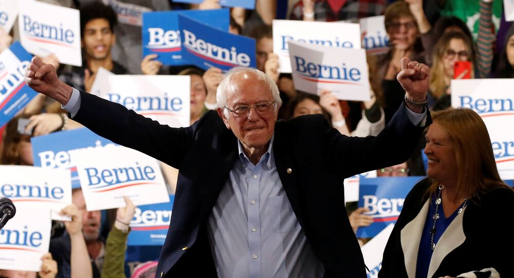 المرشح الرئاسي الأمريكي بيرني ساندرز