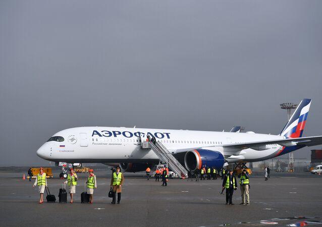 إيروفلوت تستلم أول طراز من طائرة A350-900