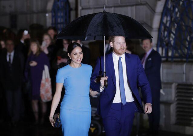 الأمير هاري وزوجته ميغان ماركل في حفل جوائز مؤسسة إندوفر السنوية، 5 مارس/ آذار 2020، لندن، بريطانيا