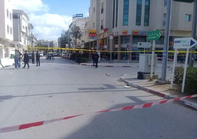 تفجير قرب السفارة الأمريكية في تونس