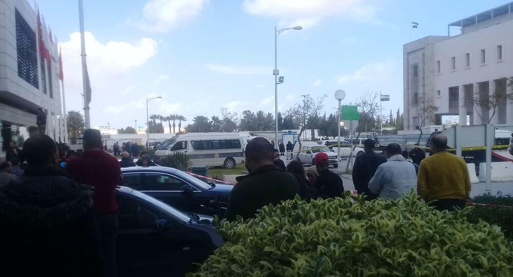 تفجير بالقرب من السفارة الأمريكية في تونس