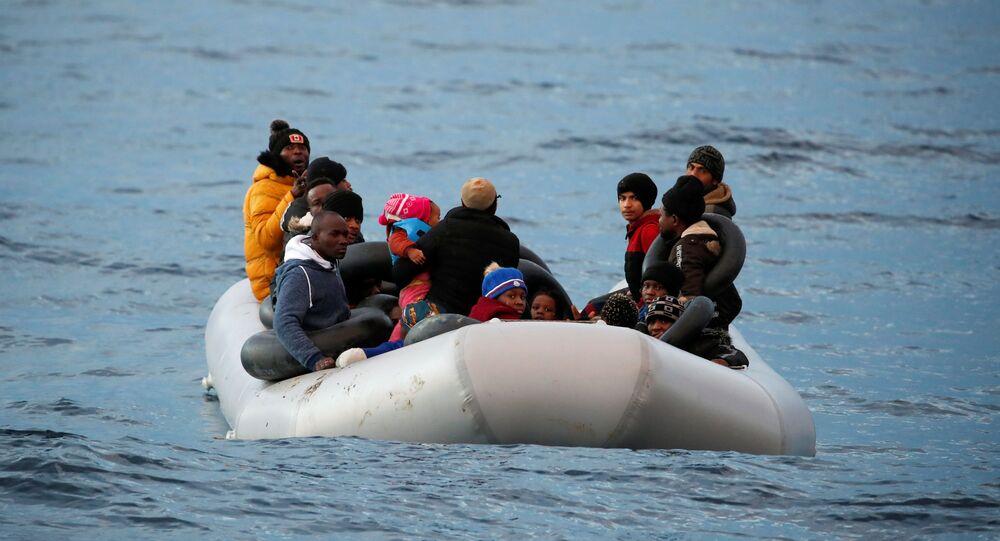 مهاجرون في بحر إيجة