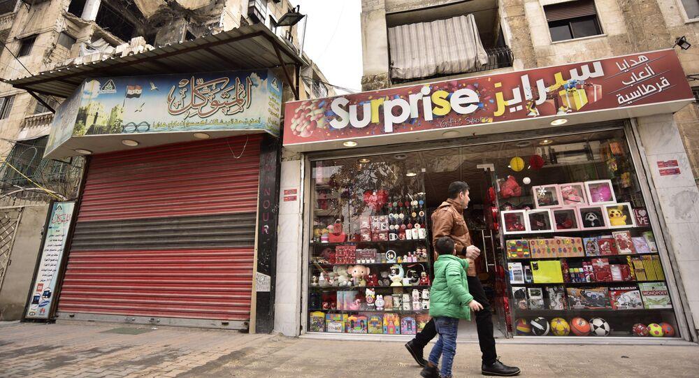 حي سيف الدولة بمدينة حلب في سوريا