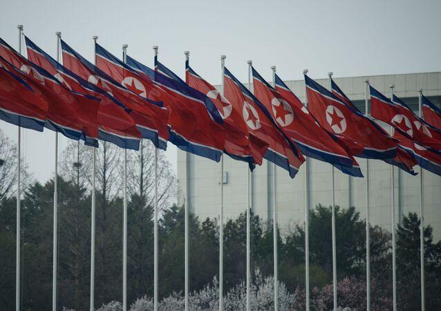 أعلام كوريا الشمالية