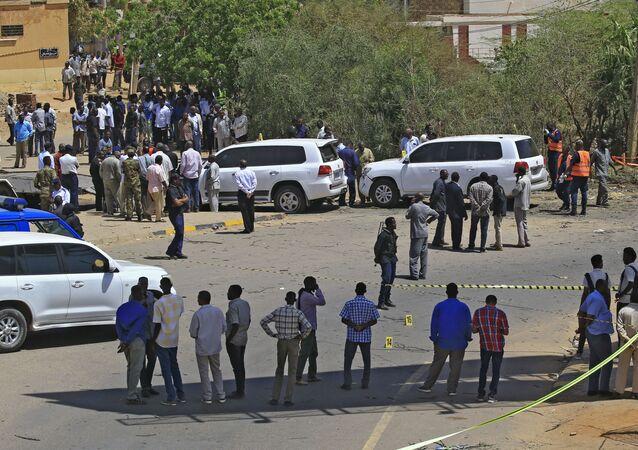 مشاهد من محاولة اغتيال رئيس الوزراء السوداني عبد الله حمدوك في الخرطوم