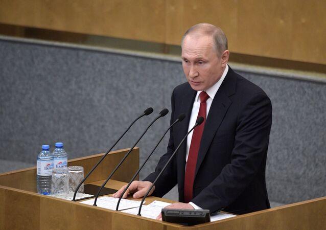 فلاديمير بوتين يخاطب البرلمان الروسي