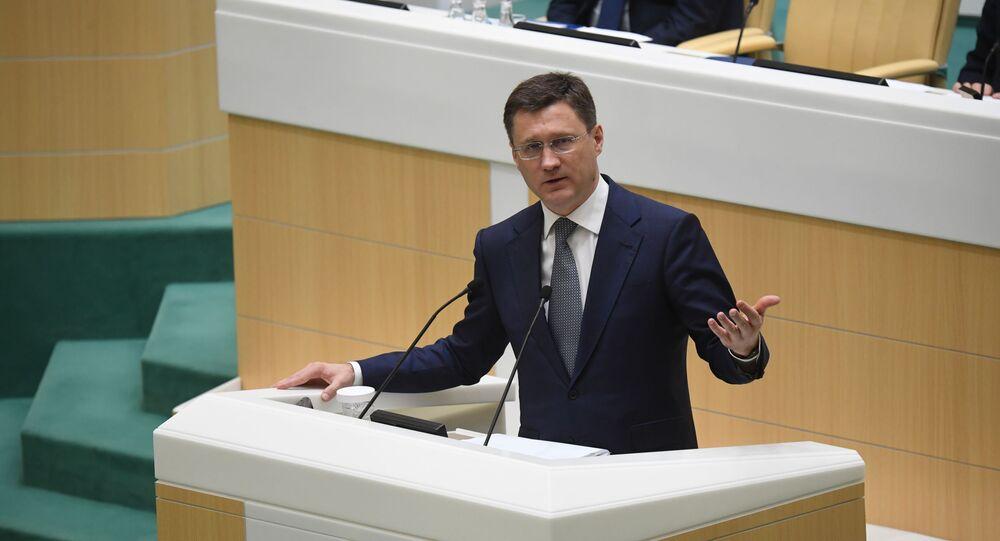 وزير الطاقة الروسي، ألكسندر نوفاك