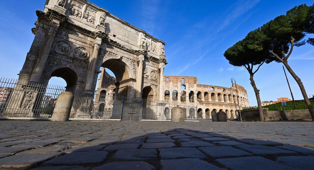 انتشار فيروس كورونا - روما، إيطاليا مارس 2020