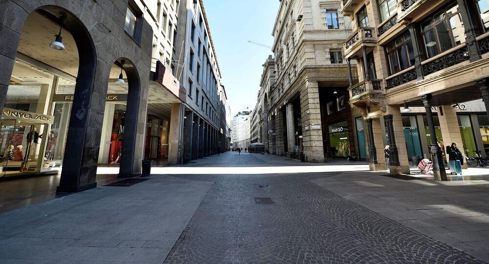 انتشار فيروس كورونا - ميلانو، إيطاليا مارس 2020
