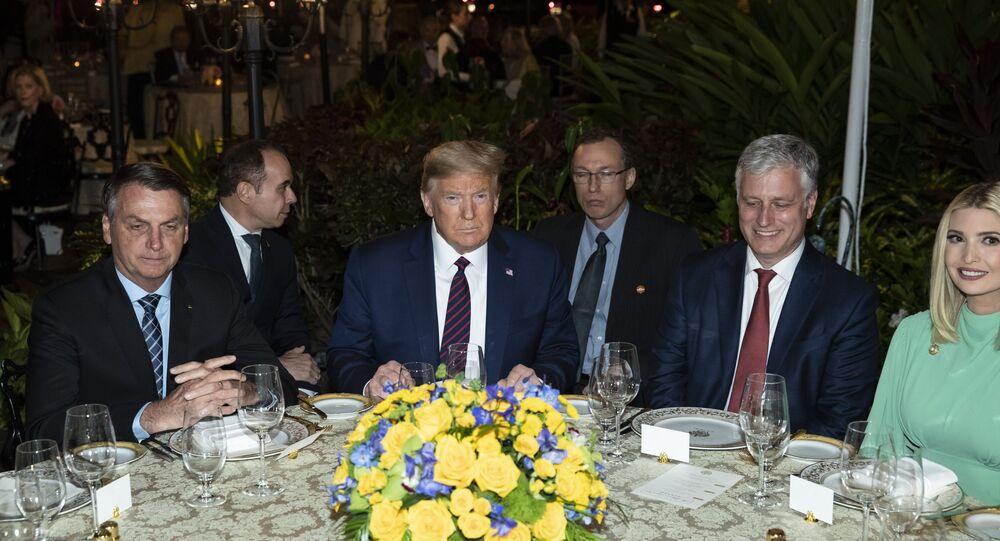 الرئيس الأمريكي دونالد ترامب والرئيس البرازيلي