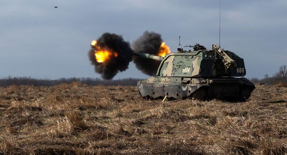 مناورات عسكرية في إقليم جنوب روسيا، ميدان مولكينو العسكري في كراسنودارسكي كراي (المدفعية الذاتية الدفع مستا-إس)
