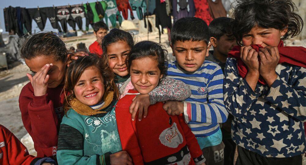 نازحون سوريون في قرية كفر-لوسين في محافظة إدلب، سوريا 10 مارس 2020
