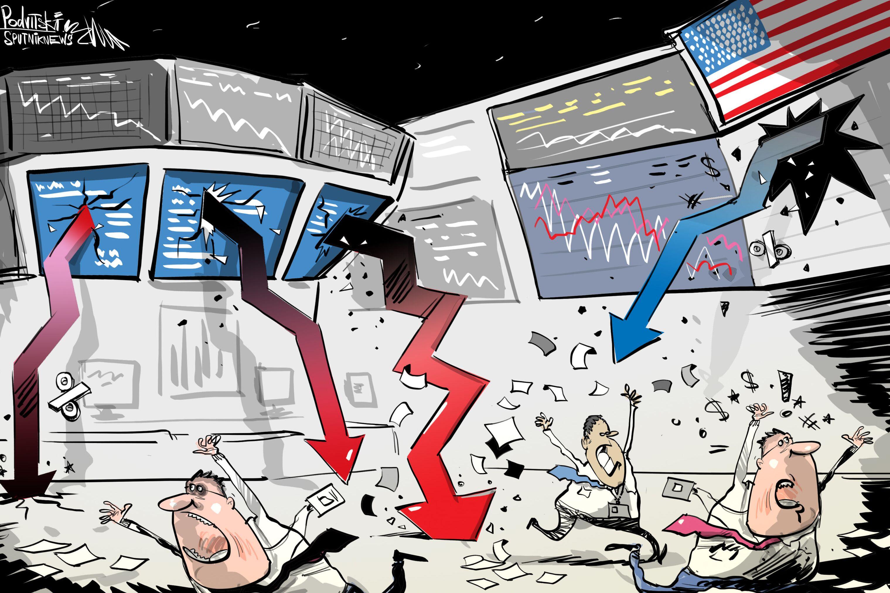 البورصة الأمريكية تسجل رقما قياسيا في الهبوط منذ عام 1987