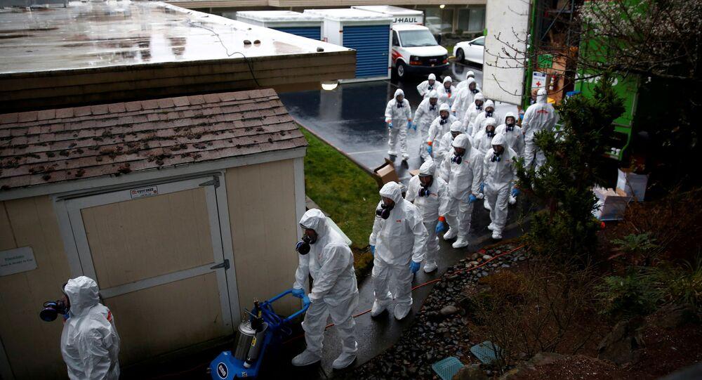 إجراءات احترازية من تفشي فيروس كورونا في أمريكا