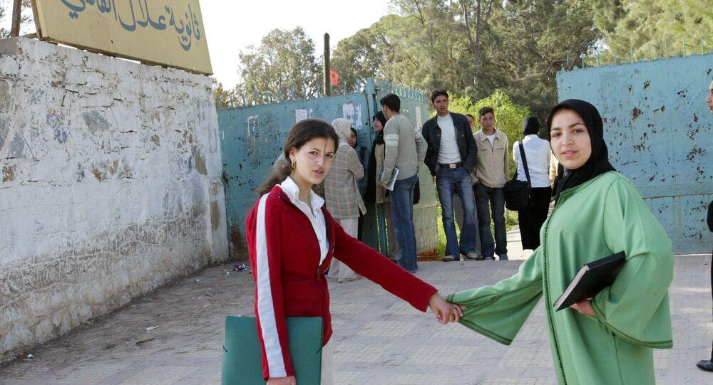 طلبة مغاربة