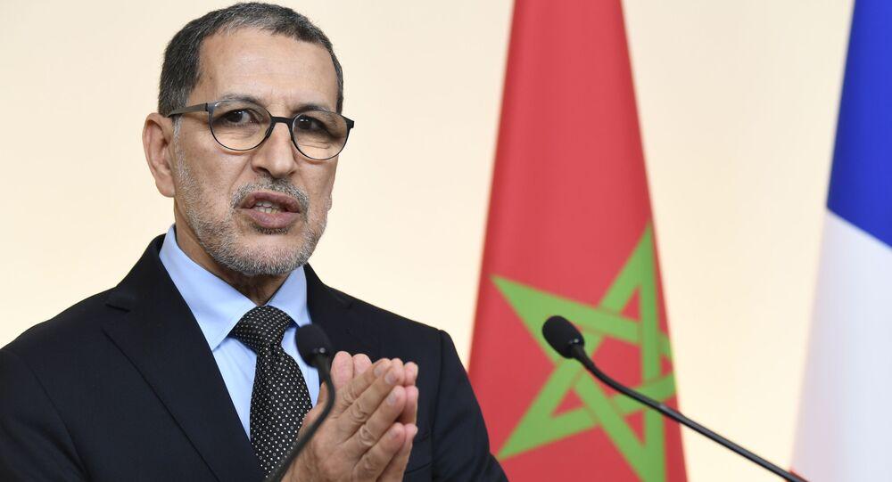 رئيس الوزراء المغربي سعد الدين العثماني في مؤتمر صحفي