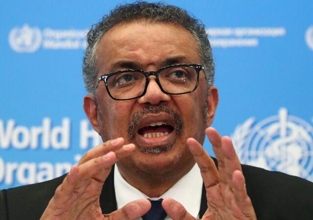 مدير منظمة الصحة العالمية تيدروس أدهانوم