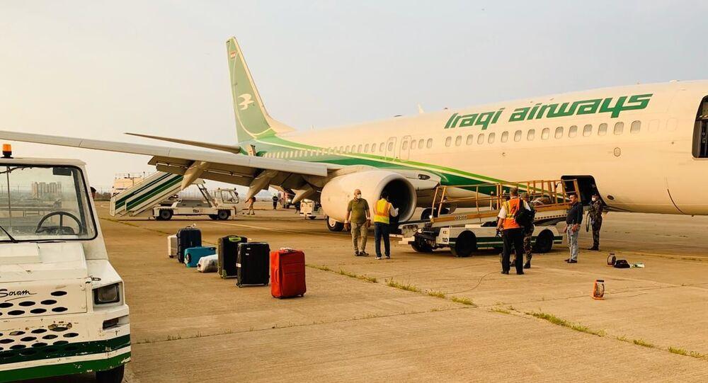 إخلاء طائرة عراقية في مطار بغداد