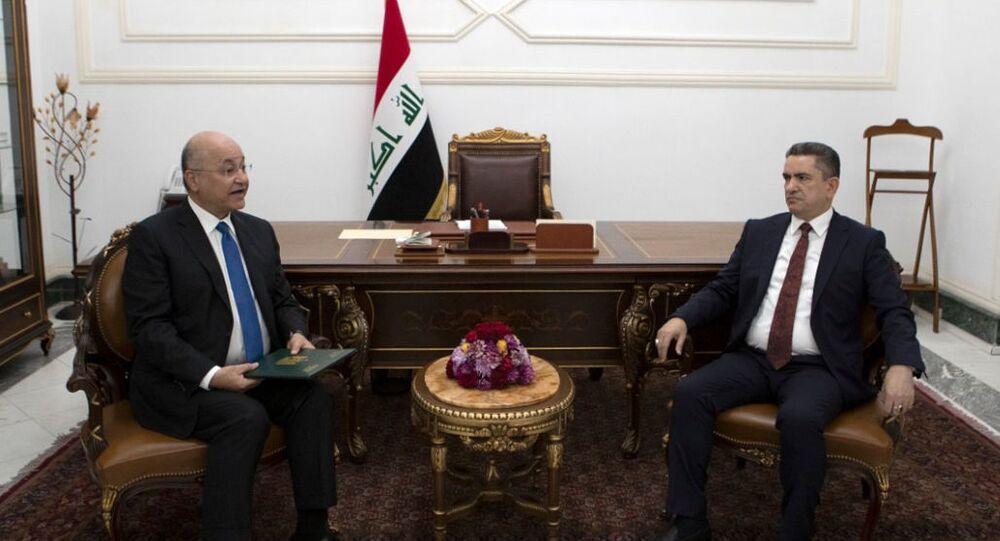 الرئيس العراقي برهم صالح يكلف مصطفى الكاظمي بتشكيل الحكومة العراقية المؤقتة