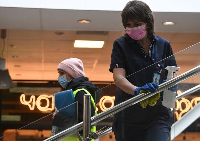 انتشار فيروس كورونا في روسيا - الاجراءات الاحترازية ضد انتشار الفيروس في نوفوسيبيرسك، روسيا ١٩ مارس ٢٠٢٠