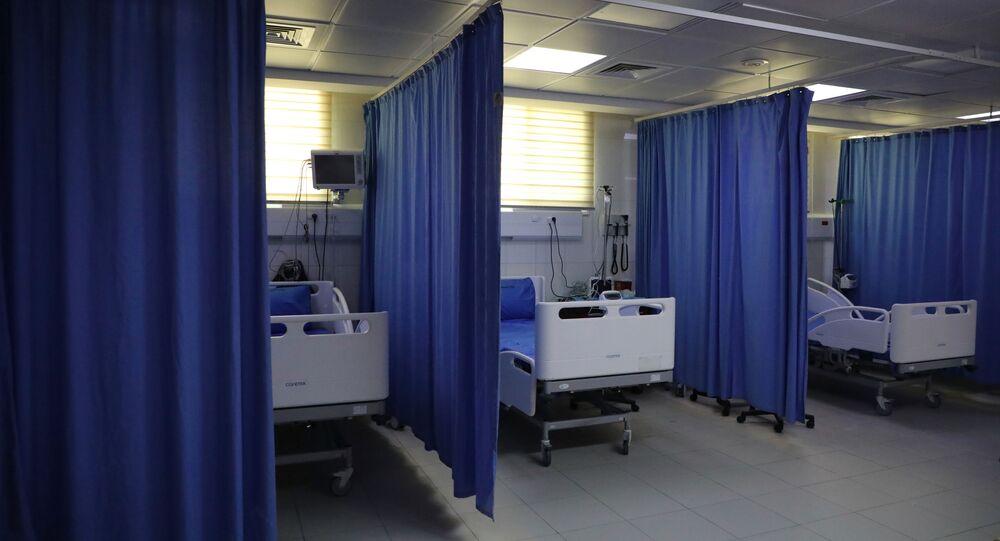 مشفى لاستقبال مرضى كورونا في الخليل في الضفة الغربية، فلسطين 15 مارس 2020