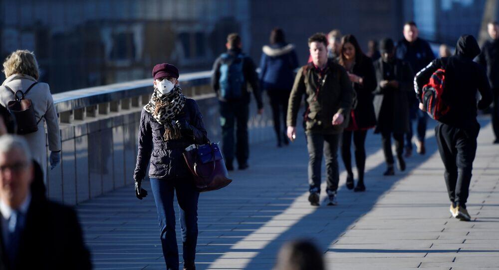 لندن بعد انتشار فيروكس كورونا المسبب لمرض (كوفيد-19)