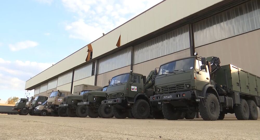 قافلة الأخصائيين العسكريين الروس في إيطاليا