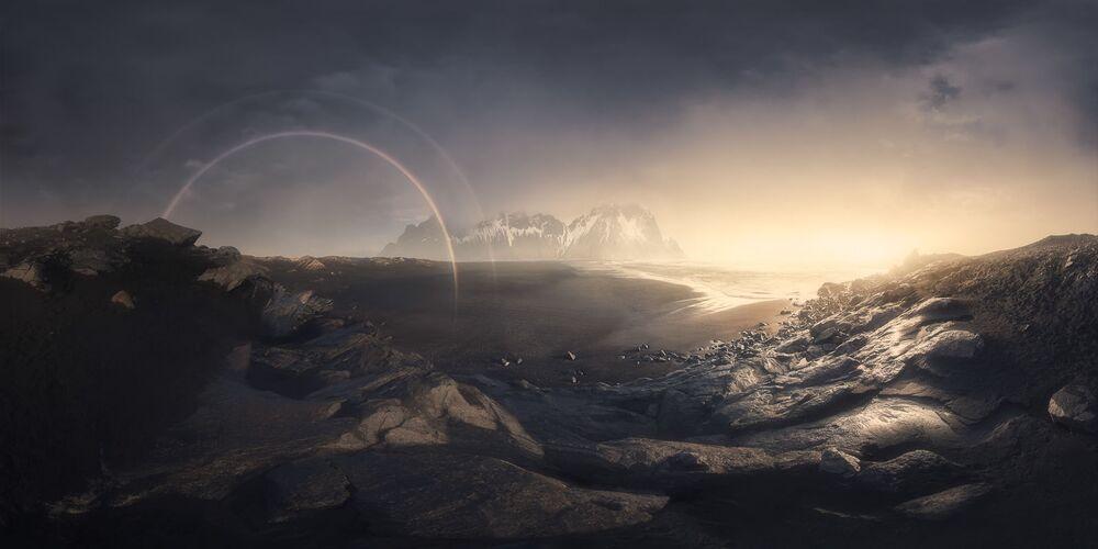 صورة بعنوان قوس قزح الفايكينغ، للمصور أليساندرو كانتاريلي، الفائز في فئة الطبيعة في  مسابقة مصور TTL للطبيعة لعام 2020