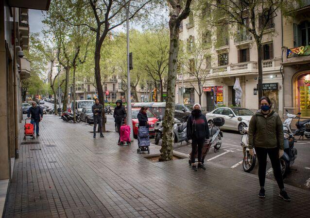 الحجر الصحي في برشلونة، انتشار فيروس كورونا في إسبانيا، مارس 2020