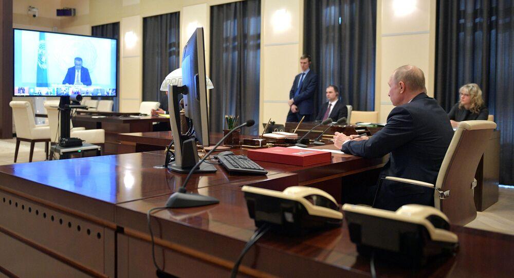 قمة مجموعة العشرين (G20) - الرئيس الروسي فلاديمير بوتين، 26 مارس 2020