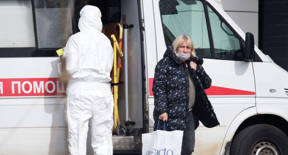مستشفى كوموناركا للمصابين بفيروس كورونا،ومرضى كوفيد 19 في موسكو، مارس 2020