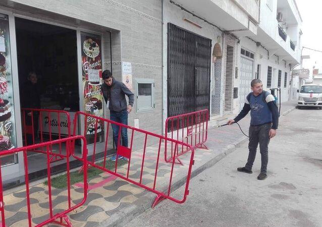 إجراءات مكافحة فيروس كورونا في تونس
