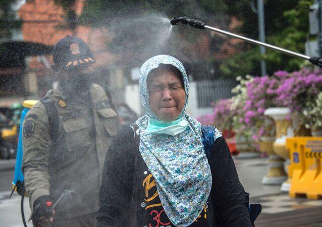 عمليات التعقيم والتطهير في إندونيسيا، كورونا 23 مارس 2020