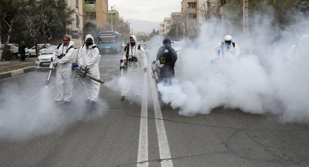 عمليات التعقيم والتطهير في إيران، 29 مارس 2020