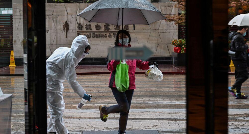 عمليات التعقيم والتطهير في ووهان، الصين 29 مارس 2020