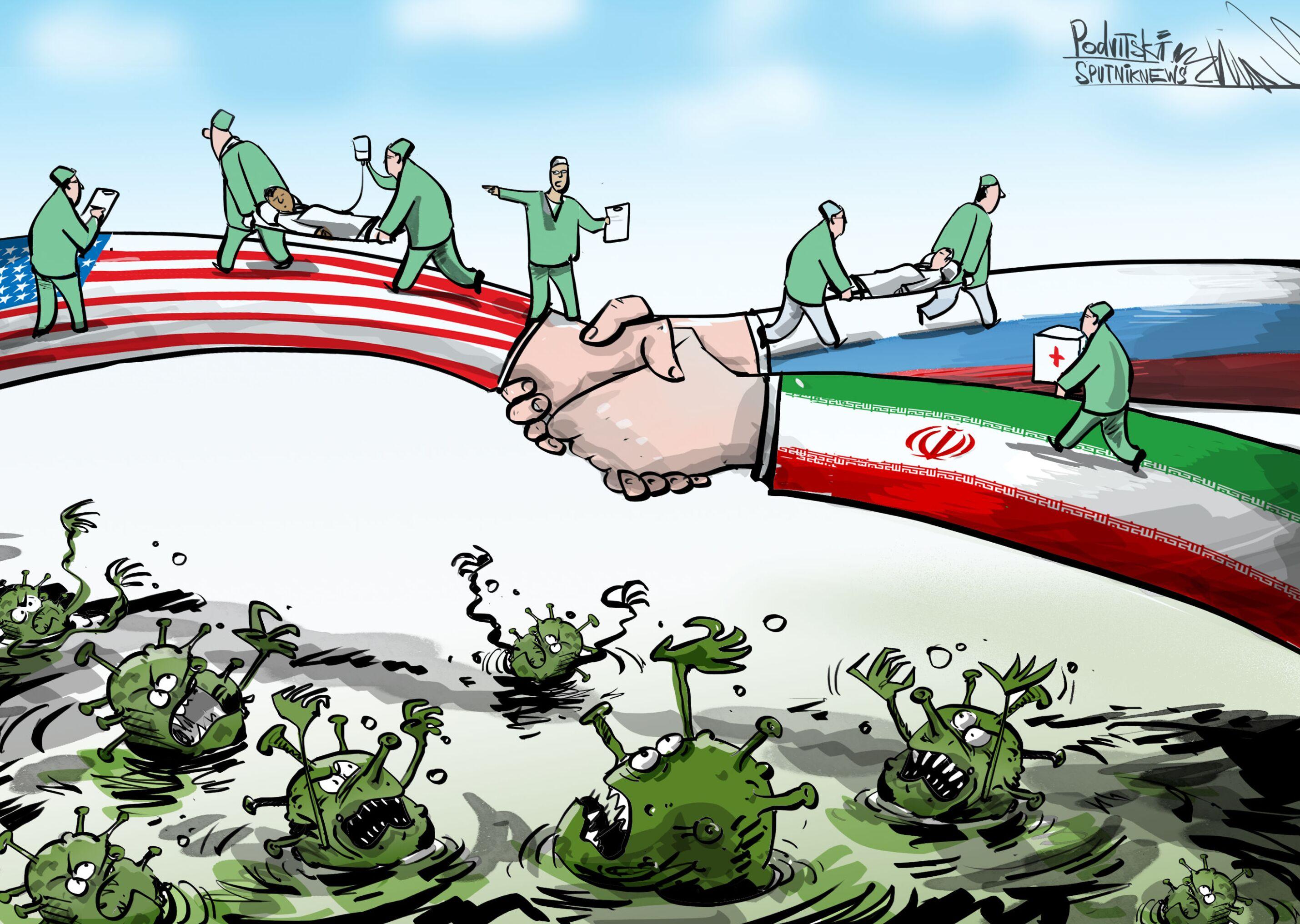 إيران وروسيا تقدمان يد العون لأمريكا للقضاء على كورونا