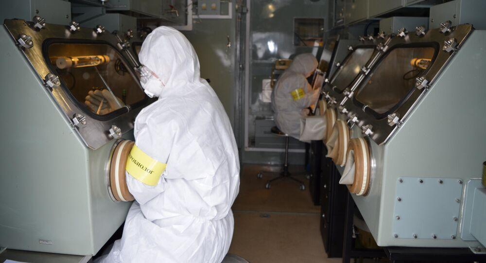 مختبر علمي تابع لأكاديمية قوات الحماية من الإشعاع الكيميائي والبيولوجي التابعة للقوات المسلحة الروسية