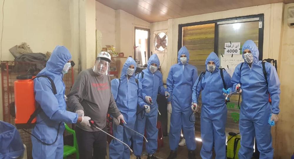 إجراءات وقائية داخل المخيمات الفلسطينية في لبنان لمنع انتشار فيروس كورونا