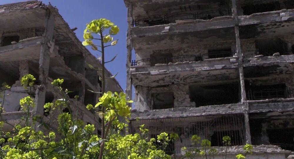 حي الحمدانية، حلب، سوريا 2 أبريل 2020
