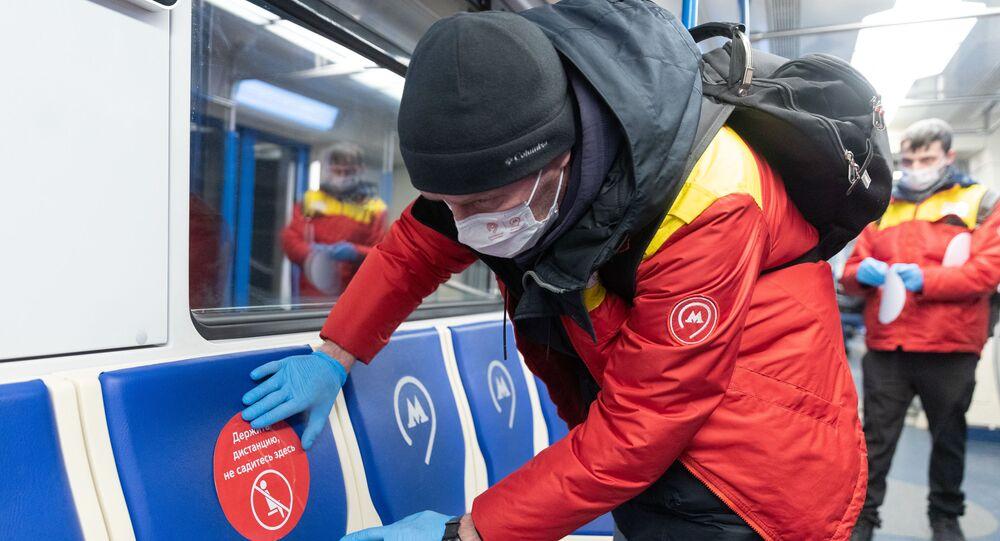 انتشار فيروس كورونا في روسيا - موسكو 1 أبريل 2020
