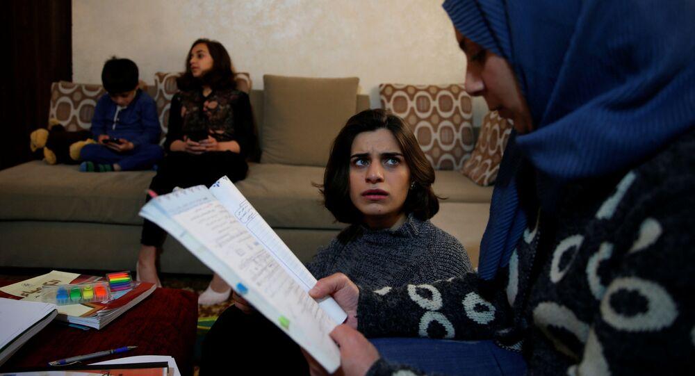 التعليم عن بعد في ظل انتشار فيروس كورونا، الأردن، أبريل 2020